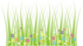 草甸春天 向量例证