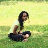 草甸的女孩 免版税图库摄影