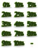 草百分比标签 免版税库存照片