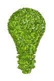 从绿草的生态电灯泡象 免版税库存图片