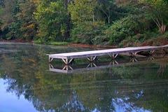 草皮湖的码头 免版税库存照片