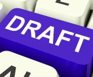 草稿钥匙显示概述文件或信件 免版税图库摄影