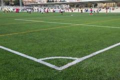 草符合球员足球 免版税图库摄影
