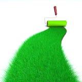 草绿色绘画 库存图片