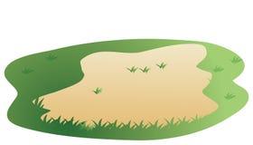 草绿色草坪 库存图片