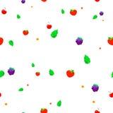 草莓、蓝莓和樱桃的样式 免版税库存图片
