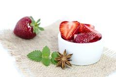 草莓、薄菏和八角 图库摄影