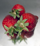 草莓三 库存照片