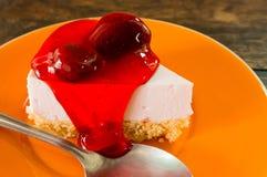 草莓乳酪蛋糕 库存图片