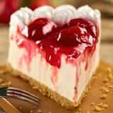 草莓乳酪蛋糕 免版税库存照片