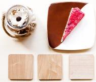 草莓乳酪蛋糕 免版税库存图片