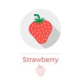 草莓传染媒介例证 免版税库存图片