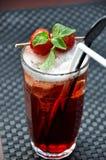 草莓冰茶 库存照片