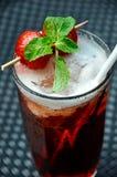 草莓冰茶 库存图片