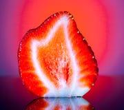 草莓切片 库存照片
