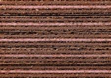 草莓味道薄酥饼块的横断面 库存照片