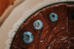 草莓和巧克力饼 图库摄影