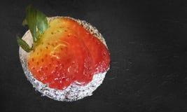 草莓和巧克力 库存照片