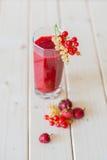 草莓和无核小葡萄干圆滑的人  免版税库存照片