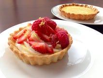草莓和柠檬馅饼 库存照片
