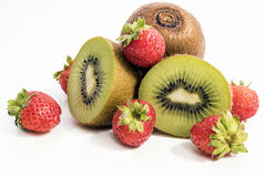草莓和猕猴桃 免版税库存图片