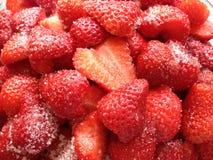 草莓和糖 库存照片
