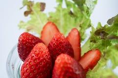 草莓和菜 库存图片