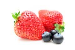 草莓和蓝莓 库存照片