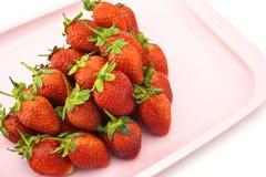 草莓堆 免版税库存照片