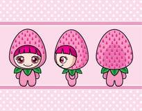 草莓女孩 图库摄影