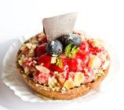 草莓奶油甜点馅饼 免版税库存照片