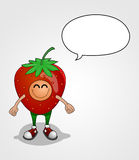 草莓字符 库存照片