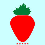 草莓它是颜色象 免版税库存图片