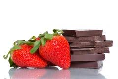 草莓巧克力 库存图片
