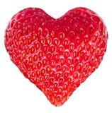 草莓心脏。 库存照片