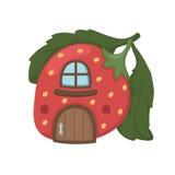 草莓房子传染媒介 库存图片