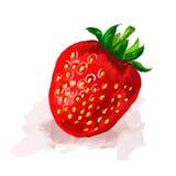草莓手拉传染媒介的例证 库存图片
