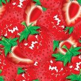 草莓无缝的样式背景 库存图片