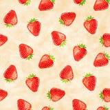 草莓无缝的样式 免版税图库摄影