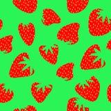 草莓无缝的模式 免版税库存图片