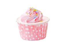 草莓杯蛋糕 免版税库存图片