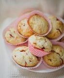 草莓松饼 库存图片
