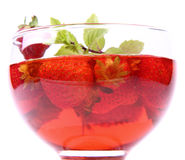 草莓果冻 免版税图库摄影