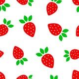 草莓果子无缝的样式背景 企业概念v 免版税库存照片