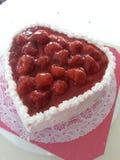 草莓柠檬水蛋糕 库存图片