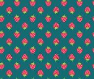 草莓样式 免版税库存照片