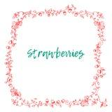 草莓框架装饰品 库存例证