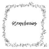 草莓框架装饰品 免版税库存照片