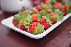 草莓款待 图库摄影