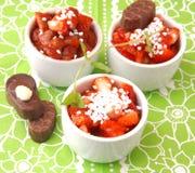 草莓沙拉  免版税库存照片